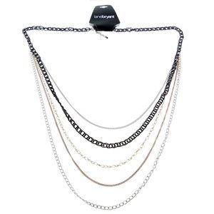 Lane Bryant Long-Necklace Silver & Multicolor NWT